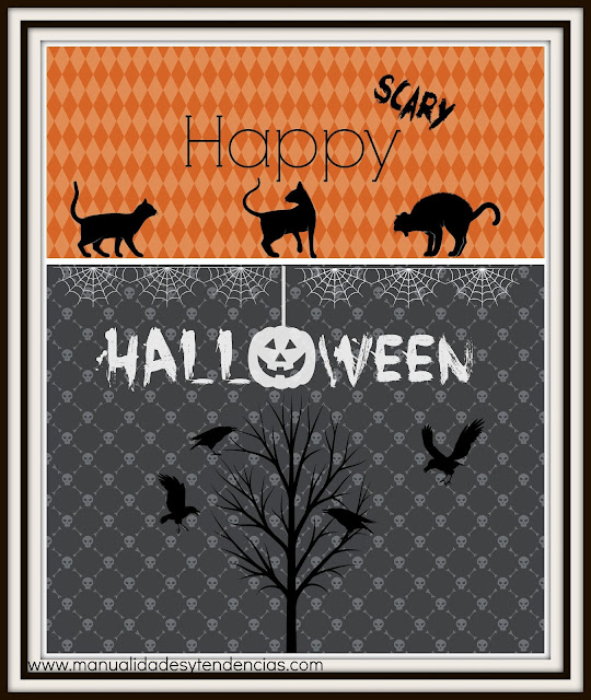 tarjeta Halloween imprimible gratuita / Free printable Halloween card / carte Halloween gratuite prêt à imprimer