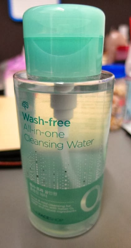 THEFACESHOP wash free all in one cleansing water make up remover review singapore lunarrive
