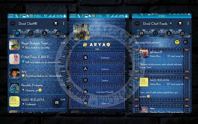 download BBM2 Mod Tema Blue Jeans Apk Versi Terbaru