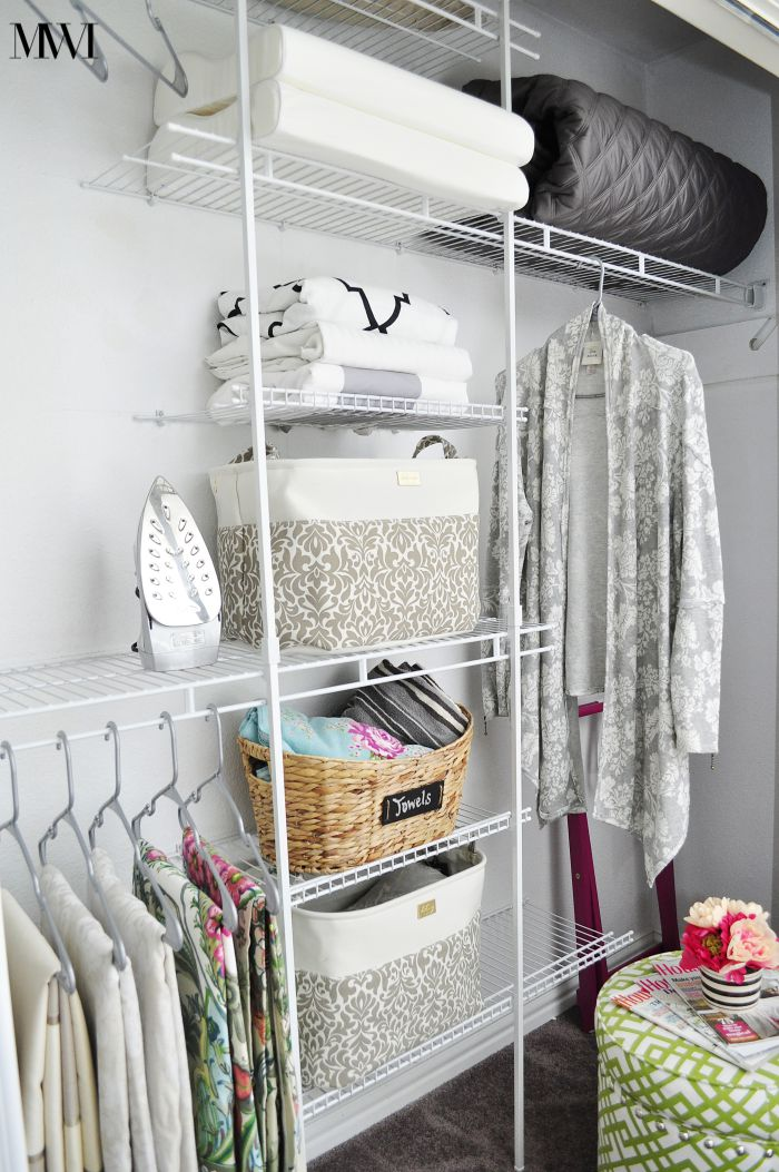 Completed Guest Room Closetmaid Installation. Organization Closet Bins