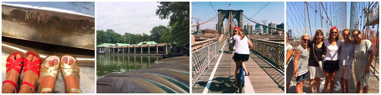 Brooklyn Bridge, Row Boats, Bikes