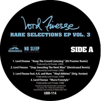 Lord Finesse – Rare Selections EP Vol. 3 (Vinyl) (2008) (VBR V0)