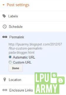 Menambahkan Custom Permalink Pada Blogger