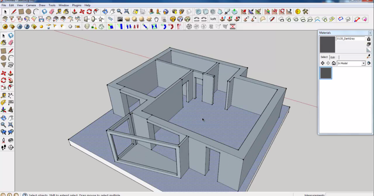 Google sketchup tutorial part 02 base modeling for Architectural design with sketchup