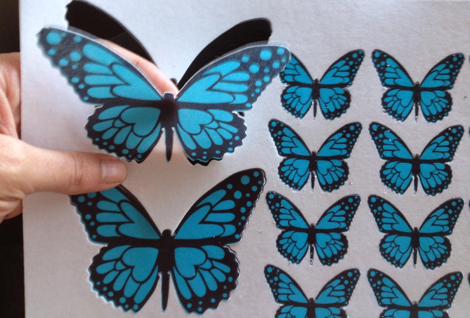 Fotopastel paso a paso para decorar una tarta con mariposas precortadas en papel de arroz - Mariposas para decorar ...