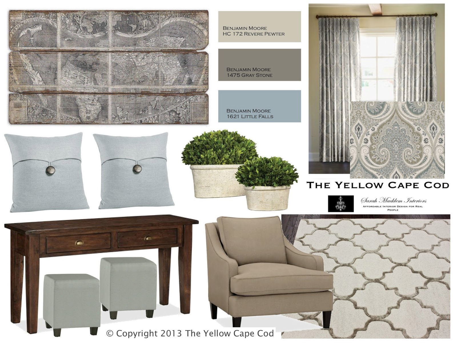 The yellow cape cod what is an online design plan anyway for Cape cod decor