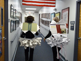 Nice shot of the wings (the wings are the covers of the books we used).