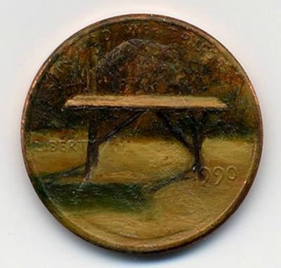 لوحات زيتية دقيقة ومدهشة على العملات المعدنية الصغيرة  Penny-paintings3-550x525