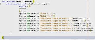 Pembulatan Angka Desimal di Java