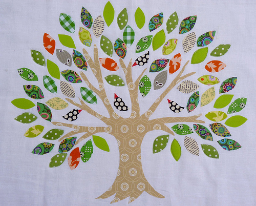 Family Tree ~ Raw Edge Applique