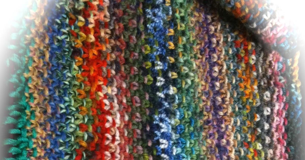 Woll-Lust(ig): Mein Regenbogen-Schal wächst