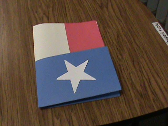How To Make A Texas Flag Folder