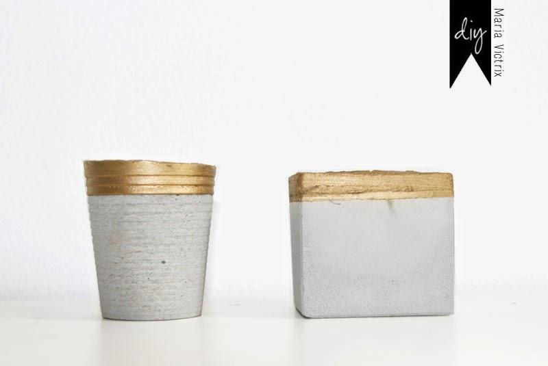 Cómo hacer portavelas floreros de cemento
