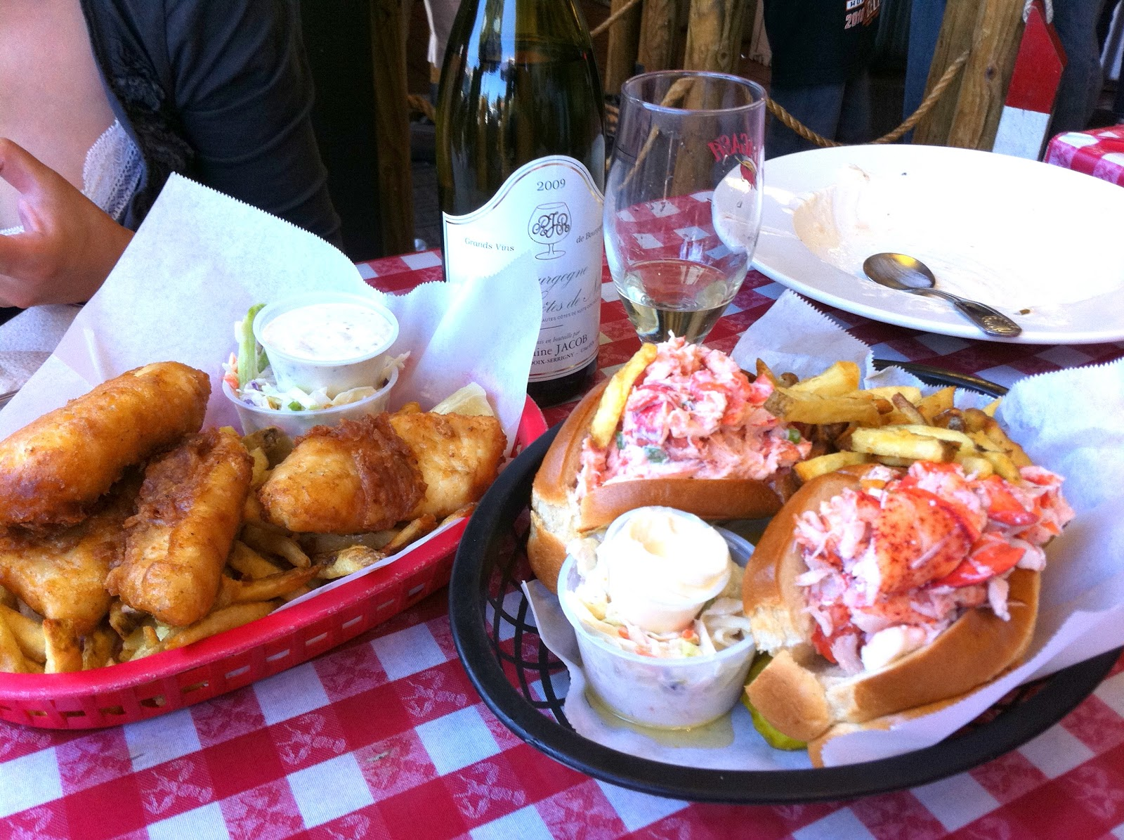 The iron chevsky wine blog august 2011 for Red lobster fish and chips