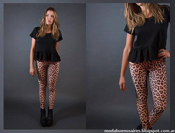 Flor Lazzari otoño invierno 2015 moda mujer leggings y calzas.