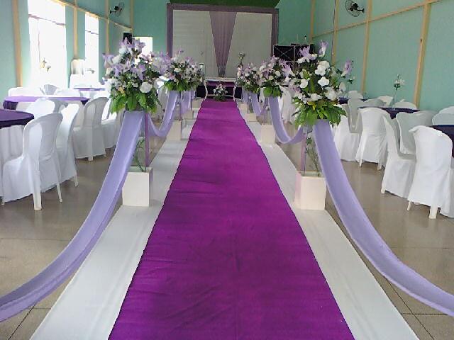 decoracao de sala lilas : decoracao de sala lilas:Belas Noivas Decorações: ' Passarela Lilás