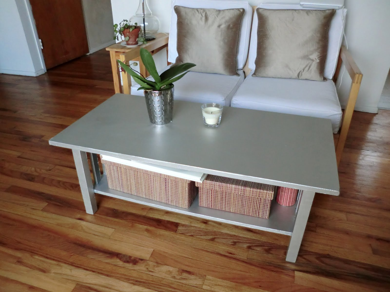 According to lia diy coffee table upgrade Painted coffee table