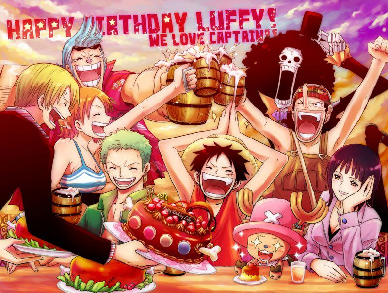 Birthday Calendar One Piece : Happy birthday to the future king of pirates onepiece
