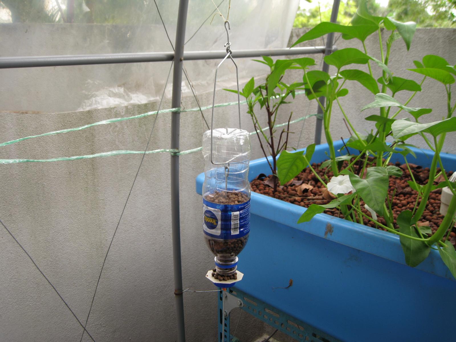 Aska 39 s aquaponics diy on demand feeder for Diy mineral water bottle