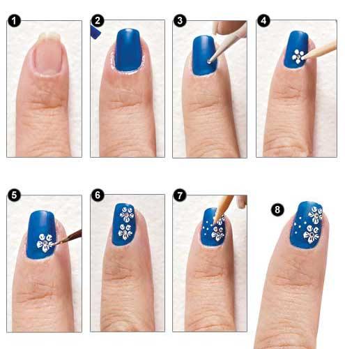Paso a paso , Pintar uñas artísticas o decoradas. En estas imágenes podemos ver como pintar las uñas con decoraciones lindas y fáciles