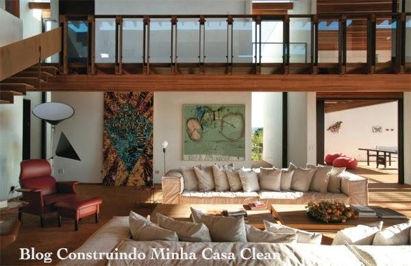 Construindo minha casa clean 30 casas de campo decoradas for Casa moderna 4 ambientes