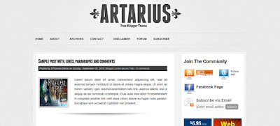 Artarius Blogger Template