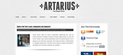 Artarius Blogger Template