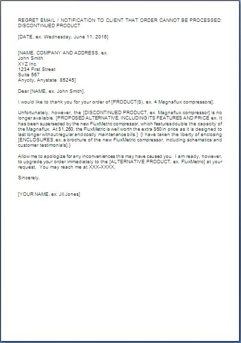 apology letter to customer for non availability of product