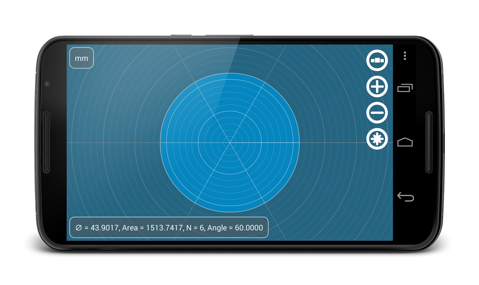 Circle Area on the screen