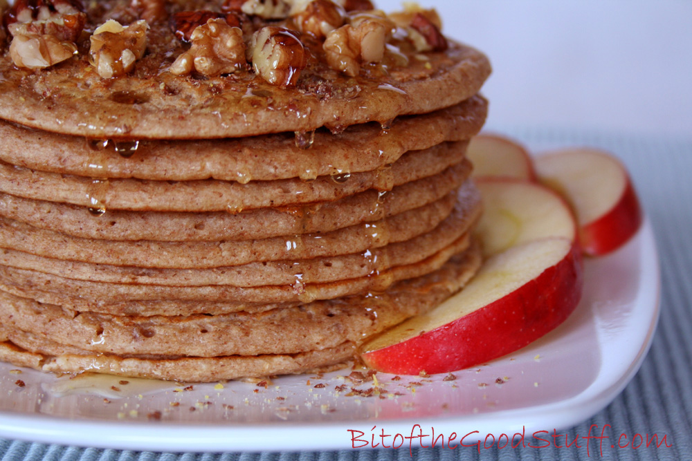 Maple-Drizzled Apple Cinnamon Pancake Stack from Bit of The Good Stuff