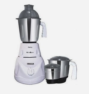 (Lowest Price Deal) Inalsa Mixer Grinder Astra worth Rs.3895 for Rs.1349 Only with Free Shipping @ Rediff