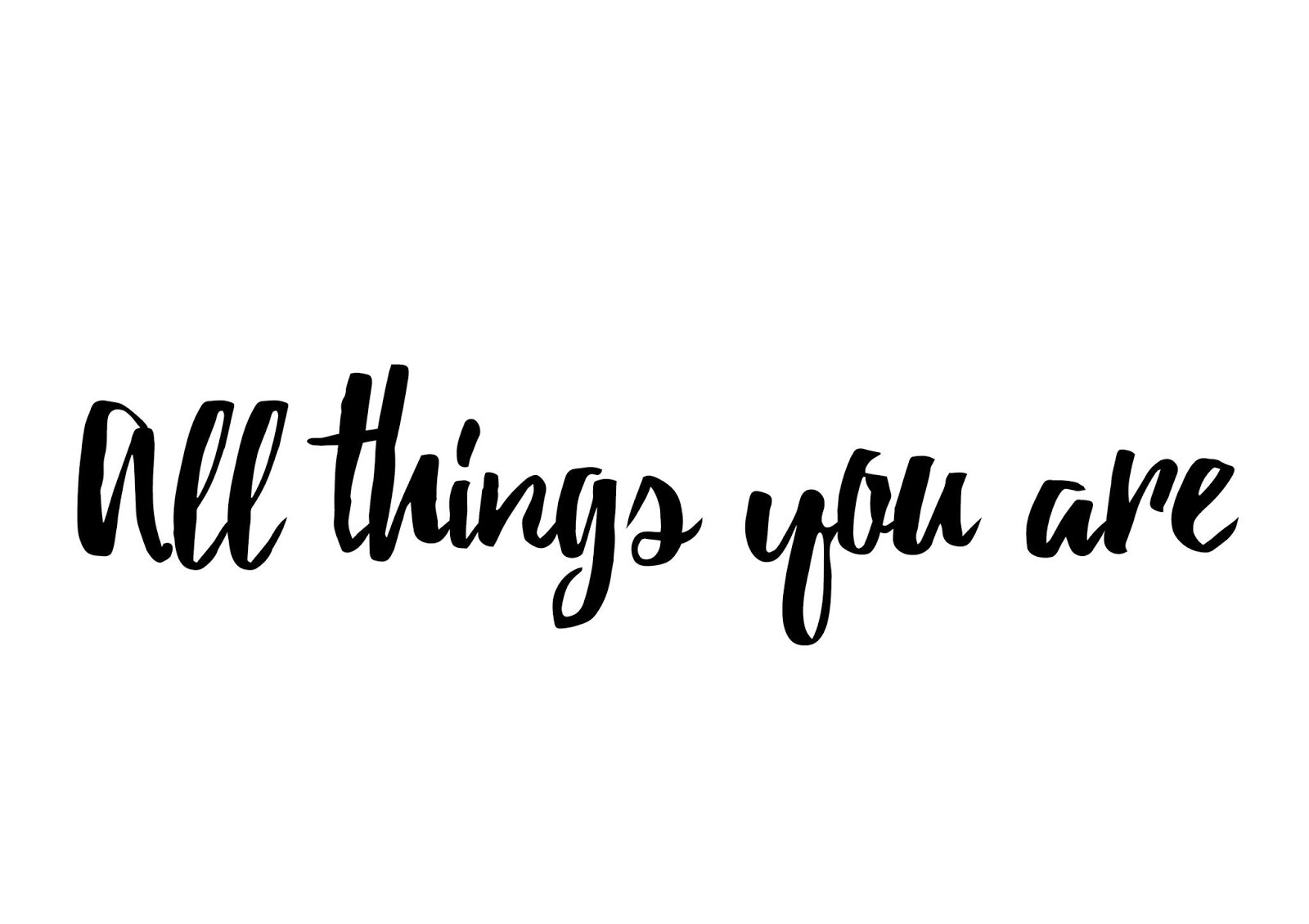 All Things You Are