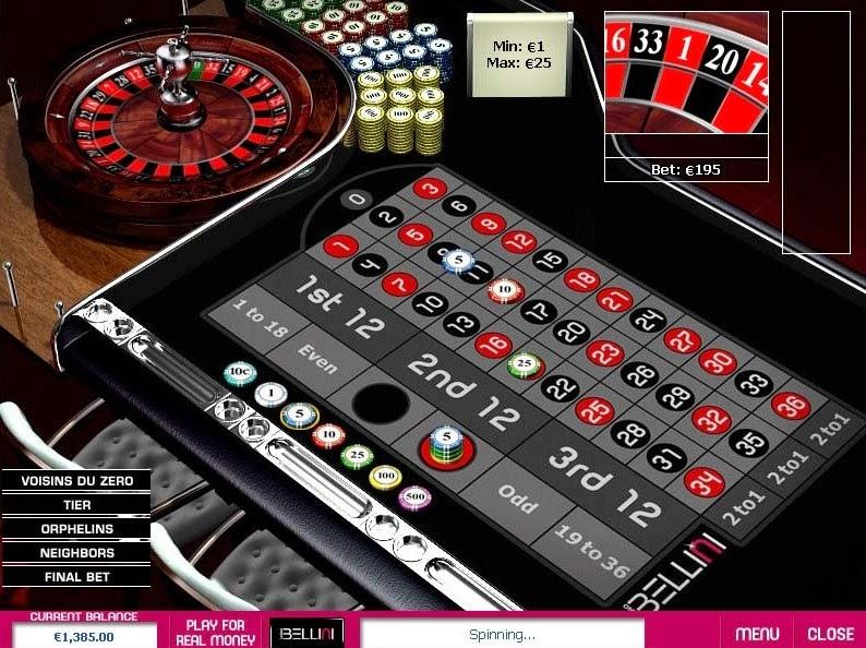 Casino Bellini Roulette Screen
