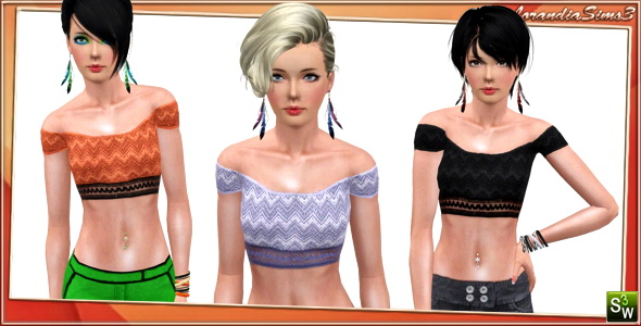 New Top for Adult Females by Lore. Download at Lorandia Sims