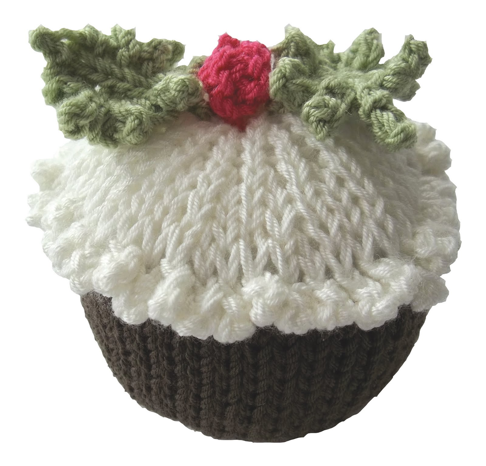 Free Knitting Pattern Xmas Pudding : Christmas Pudding Tea Cosy and Pin Cushion Knitting Pattern