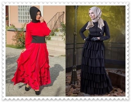 2013/2014 Sonbahar Kış Tesettür Abiye Modelleri