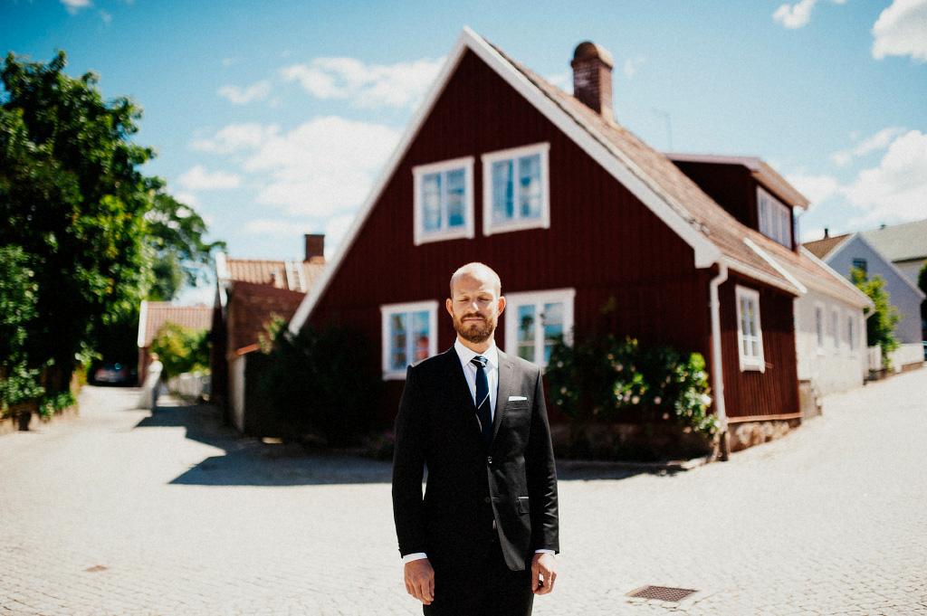 First look vid bröllopsfotografering