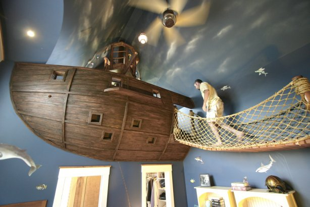Pirate Ship Interior Design Has Been Selected A Six Year Client, Among  Other Options Proposed: A Spaceship, Racing Car And An Old Castle.