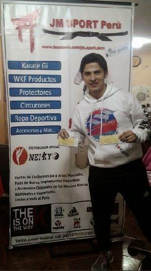 Miguel, ganador de entradas para XXVIII Campeonato Panamericano de Karate - Lima 2014.