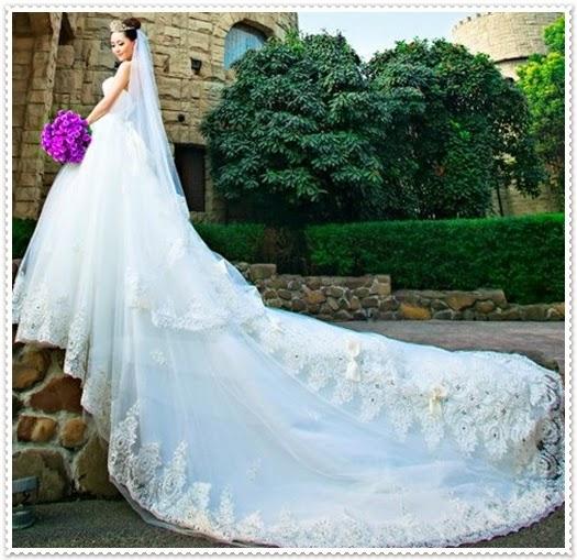 Brautkleider mit langer Schleppe 2015