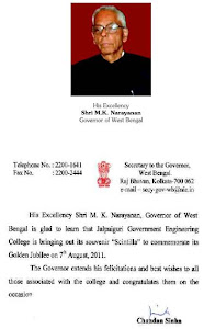 Message form Governor Of West Bengal for Scintilla '11