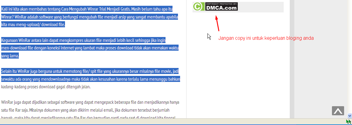 Cara Cepat Copy Blog Anti Copy