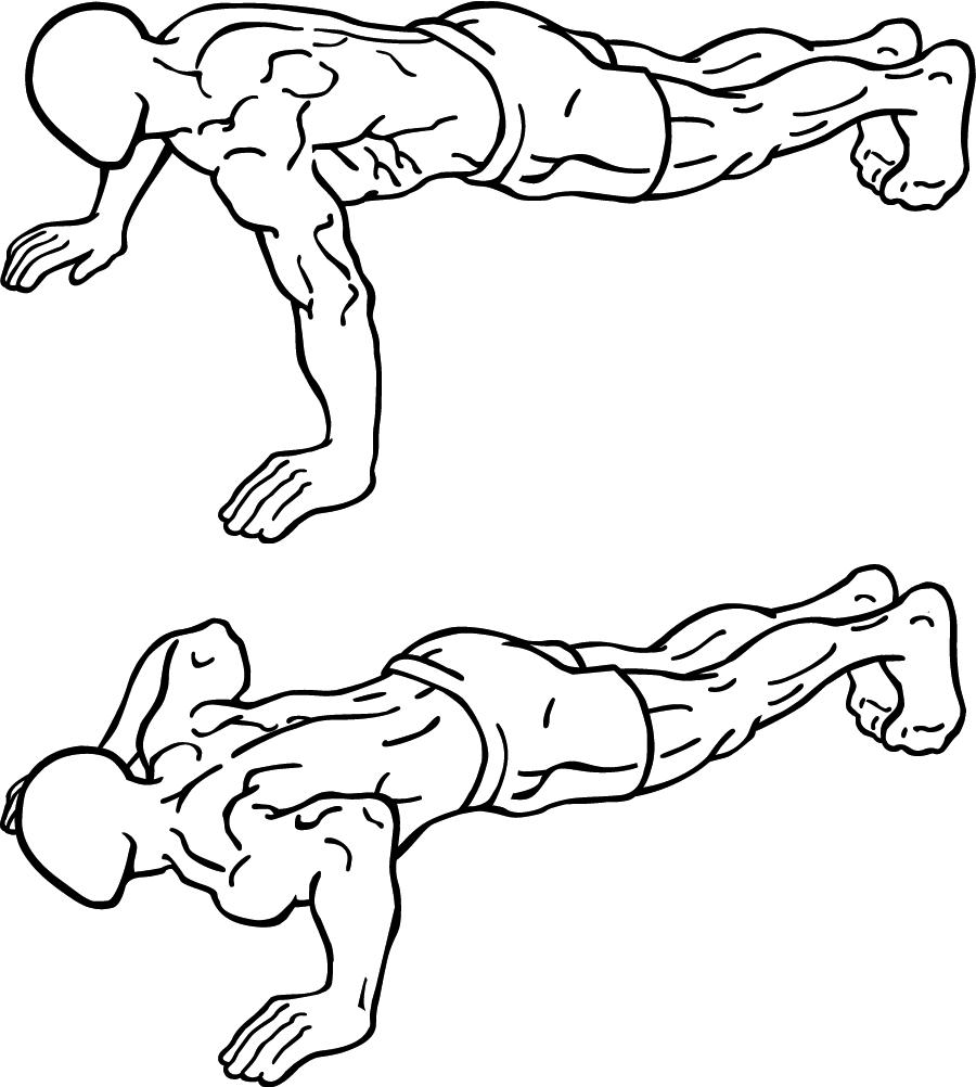 Olahraga Untuk Menghilangkan Kantuk, push up