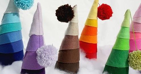 Arboles de navidad con papel crep portal de manualidades - Manualidades de navidad con papel ...