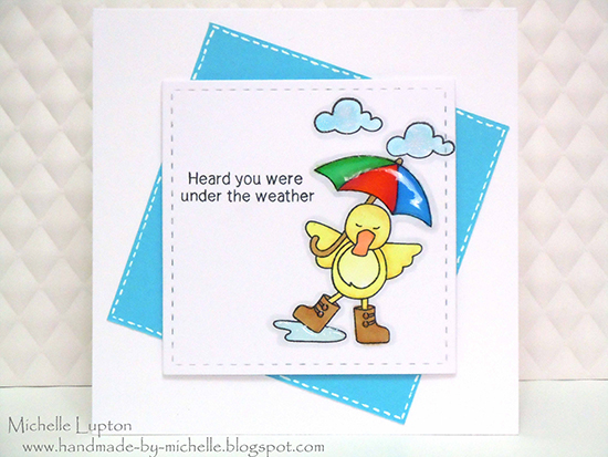 Get well duck card by Michelle Lupton for Newton's Nook Designs!