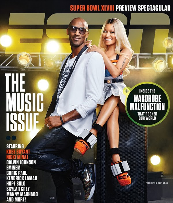 Kobe Bryant with Nicki Minaj