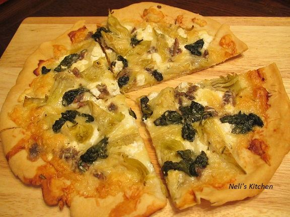 Crispy Pizza with Anchovy