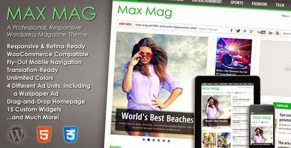 Max Mag - Responsive Wordpress Magazine Theme Download Free