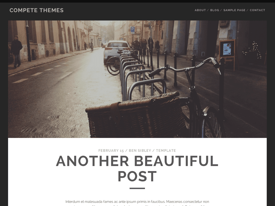 Tracks - free bold WordPress theme