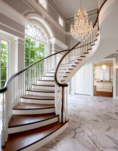 interior white wood stairs